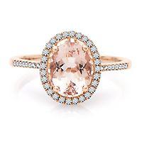 Shades of Love™ Morganite & 1/4 ct. tw. Diamond Ring in 10K Rose Gold