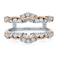 3/4 ct. tw. Diamond Ring Enhancer in 14K White & Rose Gold