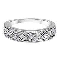 1/8 ct. tw. Diamond Band in 14K White Gold