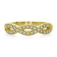 1/4 ct. tw. Diamond Infinity Band in 14K Yellow Gold