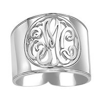 Monogram Band in Sterling Silver