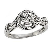 1/4 ct. tw. Diamond Twist Ring in Sterling Silver