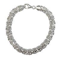 Byzantine Link Bracelet in Sterling Silver