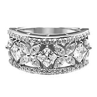 Diamonvita® 2 1/2 ct. tw. Simulated Diamond Band in Sterling Silver