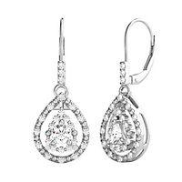1/3 ct. tw. Diamond Dangle Earrings in 10K White Gold