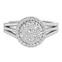Mirabela® 3/4 ct. tw. Diamond Cluster Ring in 14K White Gold