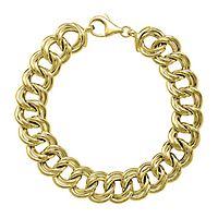 Endura Gold® Double Link Bracelet in 14K Yellow Gold