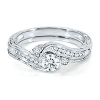3/8 ct. tw. Diamond Engagement Ring Set in 14K White Gold