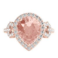 Shades of Love™ Morganite & 1/7 ct. tw. Diamond Ring in 10K Rose Gold