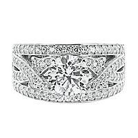 Diamonvita® 2 4/5 ct. tw. Simulated Diamond Ring in Sterling Silver