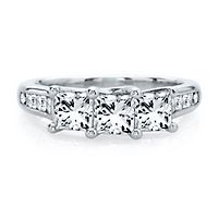 2 ct. tw. Diamond Three-Stone Ring in 14K White Gold