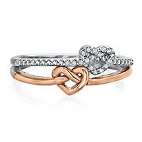 1/8 ct. tw. Diamond Promise Ring in Sterling Silver & 10K Rose Gold