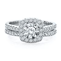 1 3/4 ct. tw. Diamond Engagement Ring Set in 14K White Gold
