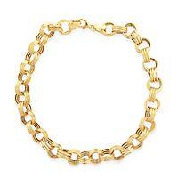 Textured Link Bracelet in 14K Yellow Gold