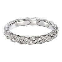 Braided Stack Ring in Sterling Silver