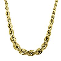 Endura Gold® Rope Chain in 14K Yellow Gold, 18