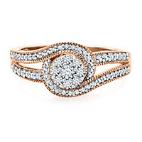 1/3 ct. tw. Diamond Engagement Ring in 10K Rose Gold