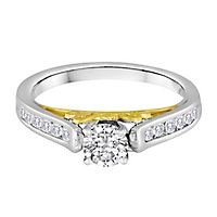 3/4 ct. tw. Diamond Engagement Ring in 14K White & Yellow Gold