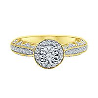 1/2 ct. tw. Diamond Engagement Ring in 10K Yellow Gold