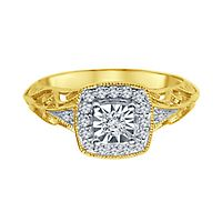 1/7 ct. tw. Diamond Engagement Ring in 10K Yellow Gold