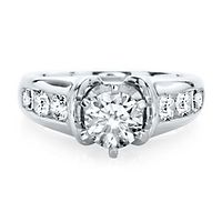 3/4 ct. tw. Diamond Semi-Mount Engagement Ring in 14K White Gold