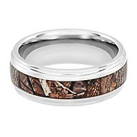 Lashbrook® King's Woodland Camo Band in Titanium, 8MM