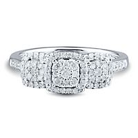 1/3 ct. tw. Diamond Three-Stone Ring in 10K White Gold