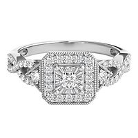 1/3 ct. tw. Diamond Halo Engagement Ring in 10K White Gold