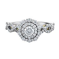 TRULY™ Zac Posen 7/8 ct. tw. Diamond Double Halo Engagement Ring in 14K White Gold