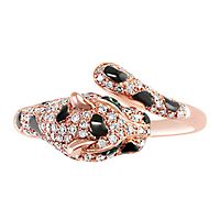 EFFY® 3/8 ct. tw. Diamond & Tsavorite Garnet Panther Ring in 14K Rose Gold