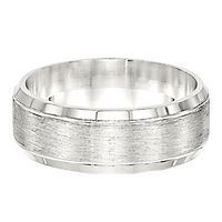 Men's Brushed Band in Sterling Silver, 8MM