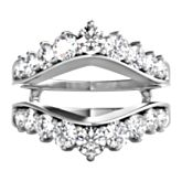 14K white gold diamond ring enhancer with 18 round brilliant cut diamonds weighing approximately 1 1/2 ct. tw.