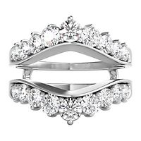 1 1/2 ct. tw. Diamond Ring Enhancer in 14K White Gold