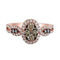 EFFY® 7/8 ct. tw. Champagne & White Diamond Ring in 14K Rose Gold