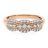 1/2 ct. tw. Diamond Anniversary Band in 14K Rose Gold