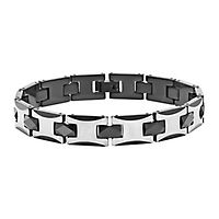 Men's Bracelet in Tungsten & Stainless Steel