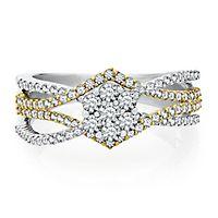 Mirabela® 1 ct. tw. Diamond Ring in 14K Yellow & White Gold
