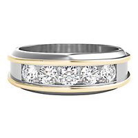 Men's 1 ct. tw. Diamond Two-Tone Ring in 10K Gold