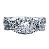 1/3 ct. tw. Diamond Engagement Ring Set in 10K White Gold