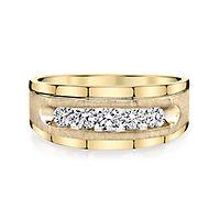 Men's 3/4 ct. tw. Diamond Ring in 10K Yellow Gold, 5MM