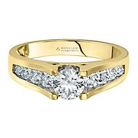 Maple Leaf Diamonds™ 1 ct. tw. Diamond Engagement Ring in 18K Yellow Gold