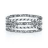 Carolyn Pollack® Filigree Rope Cuff Bracelet in Sterling Silver 2161286