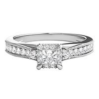 3/8 ct. tw. Diamond Halo Engagement Ring in 10K White Gold
