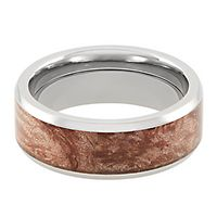 Lashbrook® Maple Wood Band in Titanium, 8MM