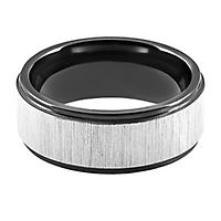 Lashbrook® Flat Band in Zirconium, 8MM