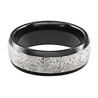 Lashbrook® Men's Band in Zirconium & Meteorite, 8MM