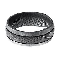 Lashbrook® Men's Band in Damascus Steel, 8MM