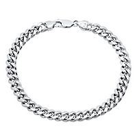Roberto Martinez Men's Miami Cuban Link Bracelet in Sterling Silver