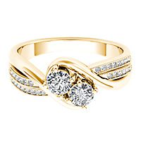 Exclusively Us® 1/2 ct. tw. Diamond Ring in 14K Yellow Gold