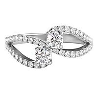 Exclusively Us® 1/2 ct. tw. Diamond Ring in 14K White Gold
